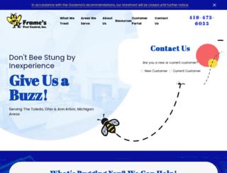 framespestcontrol.com screenshot
