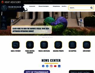 framinghamma.gov screenshot
