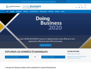 francais.doingbusiness.org screenshot