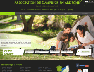 france-ardeche-campings.com screenshot