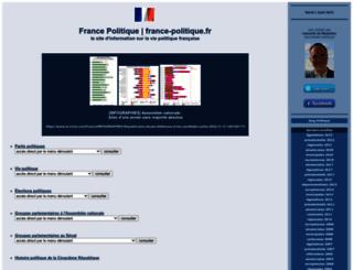 france-politique.fr screenshot