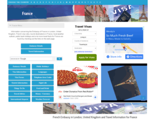 france.embassyhomepage.com screenshot