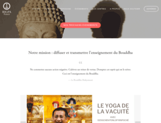 france.rigpa.org screenshot