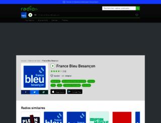 francebleubesancon.radio.fr screenshot
