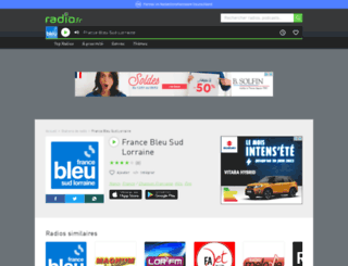 francebleusudlorraine.radio.fr screenshot