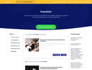 francecuir.fr screenshot