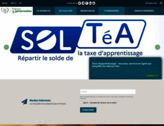 francegenerosites.org screenshot