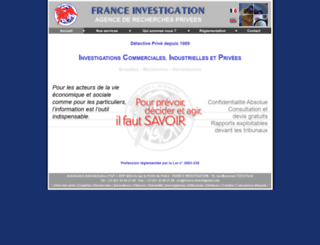 franceinvestigation.com screenshot
