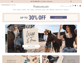 francescas.com screenshot