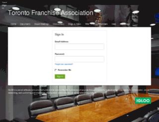 franchise-info.igloocommunities.com screenshot