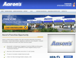 franchise.aarons.com screenshot