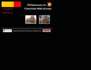 franchise.ckr.com screenshot