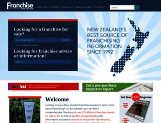 franchise.co.nz screenshot