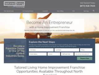 franchise.tailoredliving.com screenshot