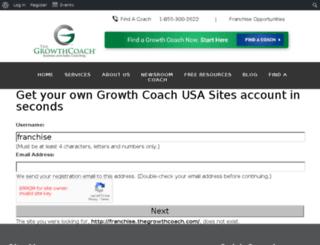 franchise.thegrowthcoach.com screenshot