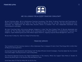 franchisealpha.com screenshot