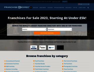 franchisedirect.co.uk screenshot