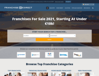 franchisedirect.ie screenshot