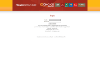 franchisee.choicehotels.com.au screenshot