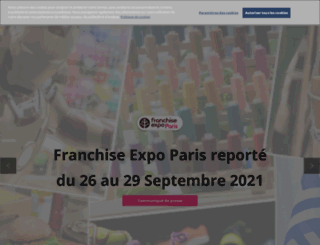 franchiseparis.com screenshot