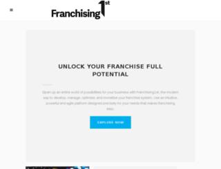 franchising1st.com screenshot