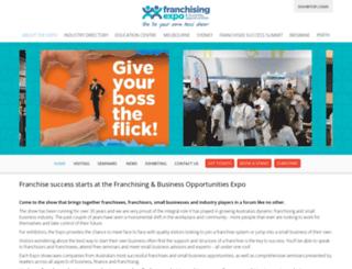 franchisingexpo.com.au screenshot