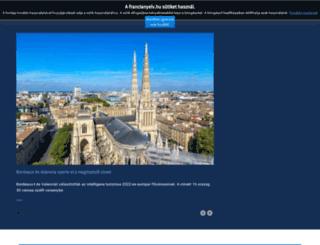franciatanulas.hu screenshot
