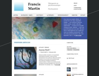 francis-martin.fr screenshot