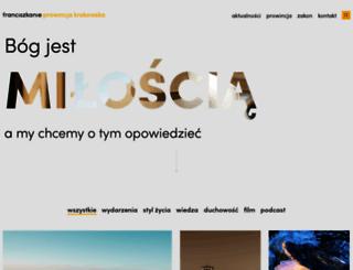 franciszkanie.pl screenshot