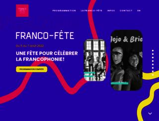 franco-fete.ca screenshot
