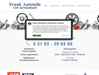 frank-autoteile.de screenshot