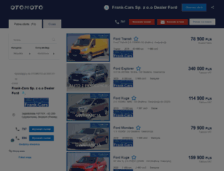 frank-cars.otomoto.pl screenshot