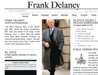 frankdelaney.com screenshot