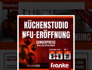 franke-wohnkaufhaus.de screenshot