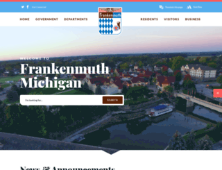 frankenmuthcity.com screenshot