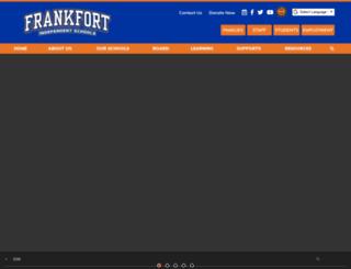 frankfort.k12.ky.us screenshot