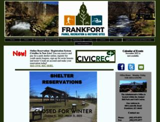 frankfortparksandrec.com screenshot