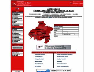 frankfurt-adressbuch.de screenshot