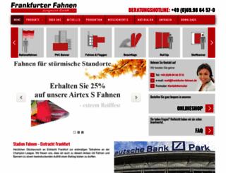 frankfurter-fahnen.de screenshot