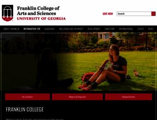 franklin.uga.edu screenshot