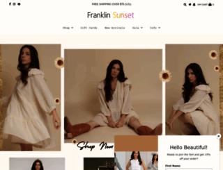 franklinsunset.com screenshot