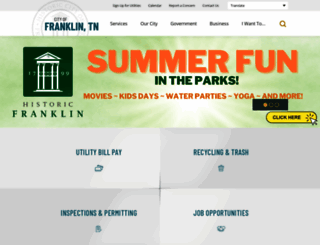 franklintn.gov screenshot