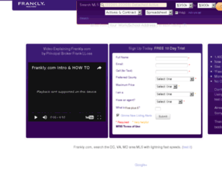 franklymls.com screenshot