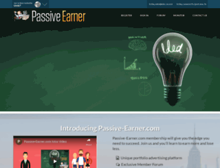 franksads.passive-earner.com screenshot