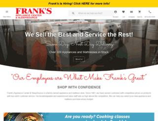franksappliancecenter.com screenshot