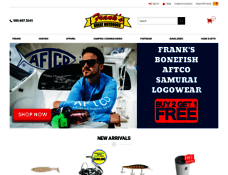 franksgreatoutdoors.com screenshot