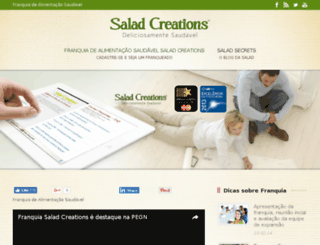 franquiasaladcreations.com.br screenshot