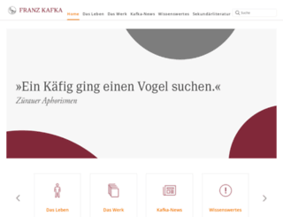 franzkafka.de screenshot