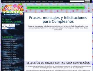 frasescumpleanos.net screenshot