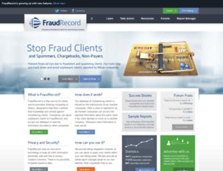 fraudrecord.com screenshot